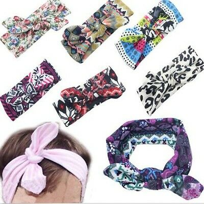 Kids Girl Baby Toddler Flower Headband Hair Wear Floral Colorful Infant Bowknot