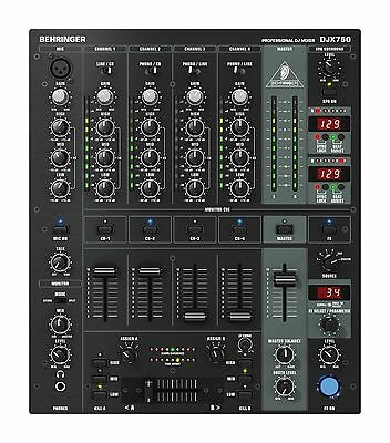 Behringer DJX750 mint 5-Channel DJ Mixer, Digital-FX, BPM, 3-band kill EQ
