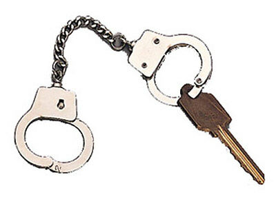 Mini Handcuff Key Ring