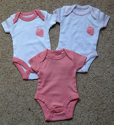 3 Baby Girls Vests From Lily & Dan  Tiny Baby  New