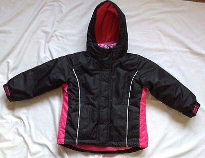 Girls Warm Padded Coat With Detachable Body Warmer Age 3-4 Years  New