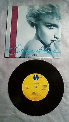 """Madonna True Blue / Holiday 1986 UK 7"""" Vinyl Single Record Picture Sleeve"""
