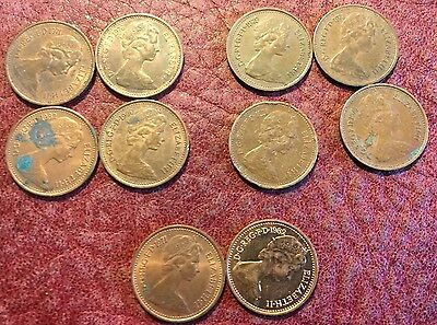 10 New Halfpennies, Now Demonetised - Job Lot 375