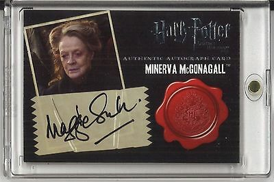 2011 Artbox - Harry Potter Deathly Hallow DH - Maggie Smith Autograph