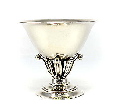 Georg Jensen .925 Sterling Silver Compote Bowl #17A; c.1925, Hand Hammered