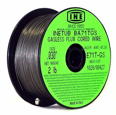 INETUB BA71TGS .030Inch on 2Pound Spool Carbon Steel Gasless Flux Cored Welding