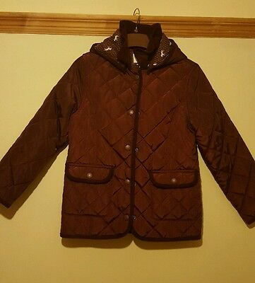 M&S girls quilted jacket 7-8yrs