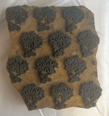 Antique Wood Block Hand Carved for Printing Textile/Fabric/Wallpaper
