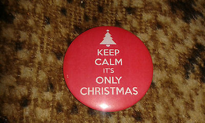 KEEP CALM IT'S ONLY CHRISTMAS fridge magnet