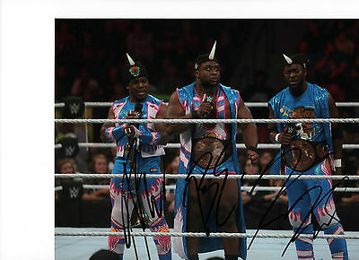 *signed* New Day - 10x8  photo (original) WWE Raw  autographed