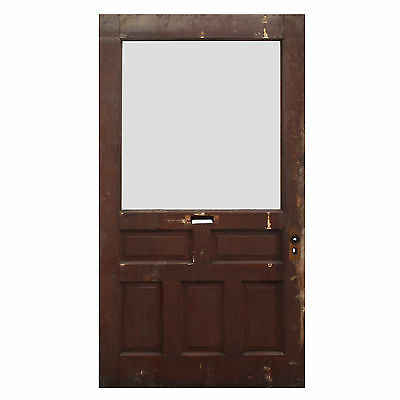 "Reclaimed 43"" Door with Privacy Glass, Early 1900s, NED541"