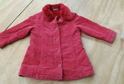 Next girls Red winter faux fur lined/warm  age 2-3 years