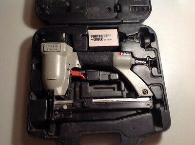 "Porter Cable FN250B Finish Nailer with carrying case ""Works Great"""