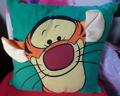 Tigger Square Pillow By Disney Home Green Multi Color Poly Cotton China/usa