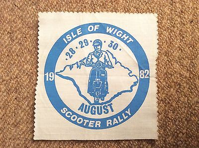 Vintage 1982 ISLE OF WIGHT SCOOTER RALLY Patch Badge Mods LAMBRETTA VESPA