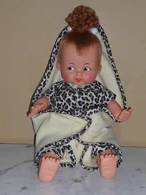 "Vintage1963 Baby Pebbles Flintstones 14"" Soft Body Doll Ideal Complete"
