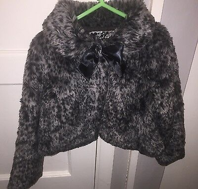 Dunnes Faux Fur Coat Girls Age 6