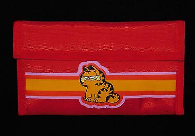 Garfield the Cat Vintage Red Nylon Kids Wallet Kat's Meow 1978