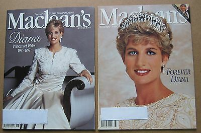 Macleans Magazines Featuring Diana, Princess Of Wales: September 1997
