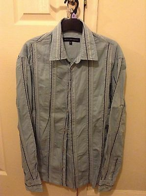 Blue Striped French Connection Shirt Size Small