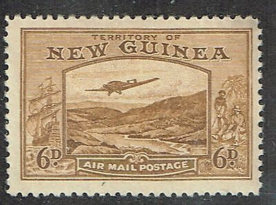 """1939 New Guinea """"Bulolo"""" 6d Mint Lightly Hinged SG 219"""