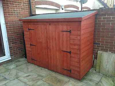 8 X 3 Wooden Garden Pent Shed