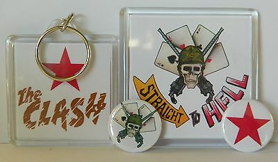 The Clash 'straight To Hell' - Keyring / Fridge Magnet / Button Badges