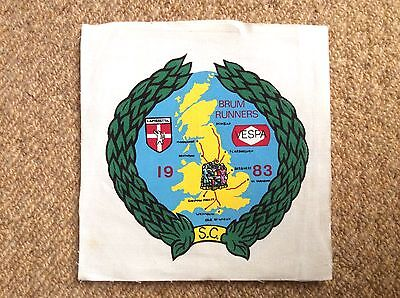 Vintage 1983 BRUM RUNNERS SCOOTER CLUB Patch Badge Mods LAMBRETTA VESPA