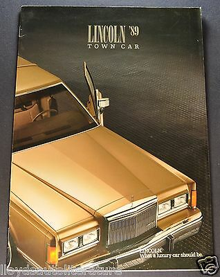 1989 Lincoln Town Car Brochure Signature Series, Cartier Excellent Original 89