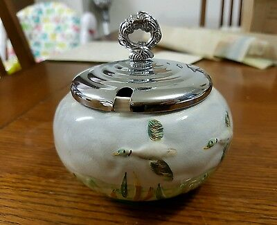 Vintage English hand painted sugar bowl Shorter and Son