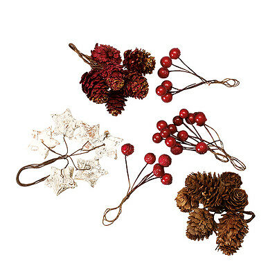 Wreath Assorted Decorations  Pack of 44