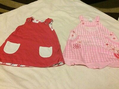 Set Of 2 Baby Girls Dresses 3-6 Months