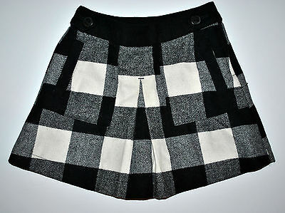 Next Cute Skirt Girls Age 5 Years Height 110Cm Wool Black & White