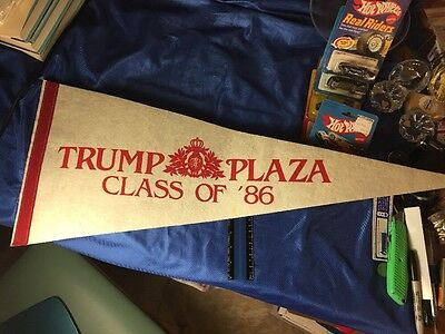Vintage 1986 Donald Trump Plaza Casino Pennant Atlantic City