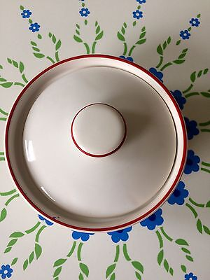 Retro TG Green Butter Dish Rare Red And White
