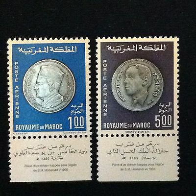 Morocco  SC #C16-17  Mint H  Set  1969