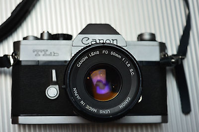 Canon TLb Film Camera with FD 50mm f1.8 SC