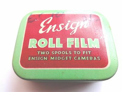2 Rolls Ensign Camera Film In Tin Vintage Collectable Unused