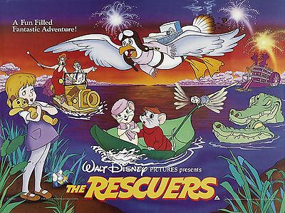 """The Rescuers 16"""" x 12"""" Reproduction Movie Poster Photograph"""