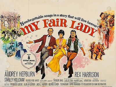 """My Fair Lady 1964 16"""" x 12"""" Reproduction Movie Poster Photograph 2"""