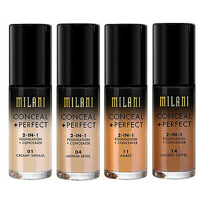 (1) Milani Conceal + Perfect 2-in-1 Foundation + Concealer, You Choose!