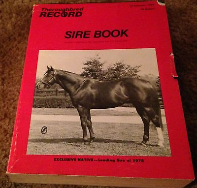The Thoroughbred Record Sire Book February 14, 1979 Exclusive Native Cover