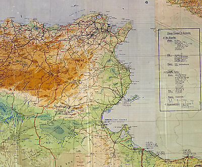 WWII German Military Maps:  Afrika Korps 1941-42