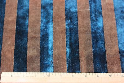"Antique French Victorian c1880 Silk Velvet Stripe Fabric Textile~1 yd19""L X 18""W"