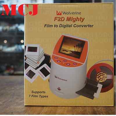 'New' Wolverine F2D Mighty 20MP 7in1 negative Film to Digital Converter Scanner