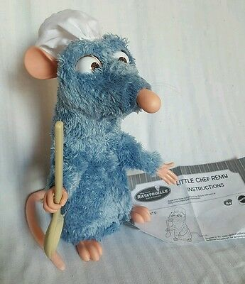 DISNEY RATATOUILLE Animated Talking Little Chef Remy Mattel Instructions Incl!
