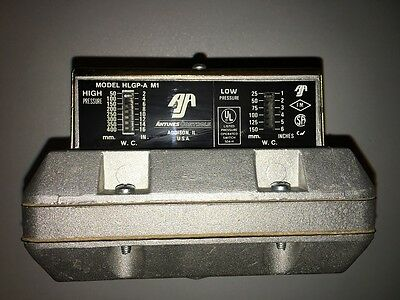 Antunes Control Part No. HLGP-A M1 High & Low Gas Pressure Switch w/ Reset Devic