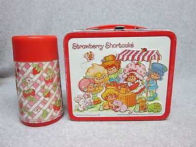 1981 STRAWBERRY SHORTCAKE & Friends LUNCHBOX & THERMOS   Near MiNt  C#9++