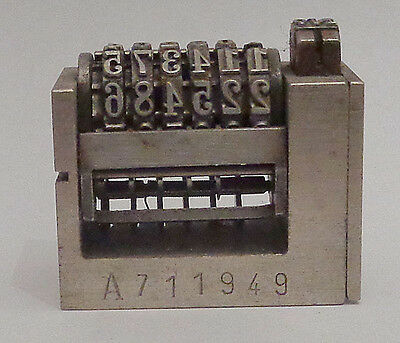 AtlanticLeibinger Letterpress Midget Numbering Forward Machine, 6 digits