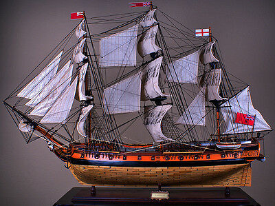 "HMS SURPRISE 43"" wood model ship large scale sailing tall British boat"